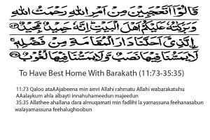 Dua to have the best home